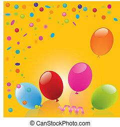 Fond jaune-Ballon.eps - Birthday, Anniversary, happy,...
