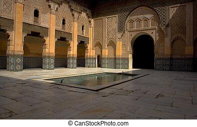 Historic landmark of Ben Youssef Madrasa - The Ben Youssef...