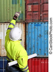 Worker on a Container Terminal