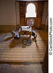 Ben Yussef Medersa student room - The Ben Youssef Madrasa...