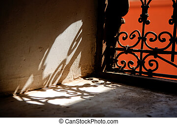 Marrakesh abstract - The Ben Youssef Madrasa was an Islamic...