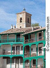 Main square, Touristic village in Madrid province, Chinchon,...