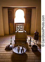 Ben Yussef Medersa study room - The Ben Youssef Madrasa was...