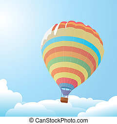 balloon against the blue sky and cl