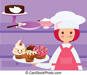kawaii chef - Is a EPS 10 Illustrator file