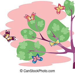 branch-of-tree-with-butterflies 2 - Is a EPS 10 Illustrator...