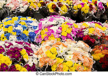 Assortment of Daisies and Rose Flowers