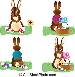 Easter bunnies set