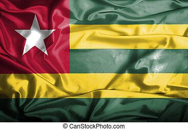 Togo waving flag