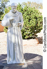White St Francis of Assisi Statue - near life size white St...