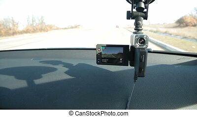 Portable car dvr digital video recorder