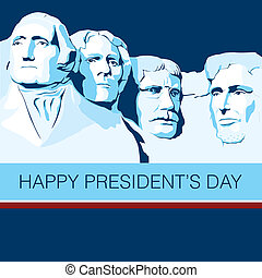 President Day - Mount Rushmore as a background