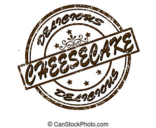 Cheesecake - Stamp with word cheesecake inside, vector...