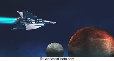 Interplanetary Travel - A star-ship from Earth travels to a...