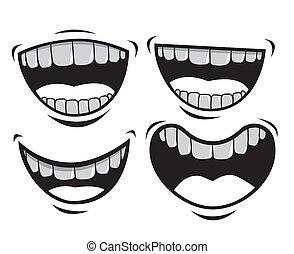 mouth design over white background vector illustration