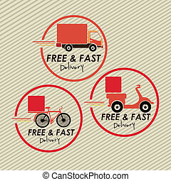 delivery design over lineal background vector illustration