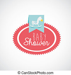 baby design - baby design over gray background vector...