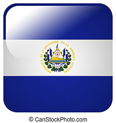 Glossy icon with flag of El Salvador
