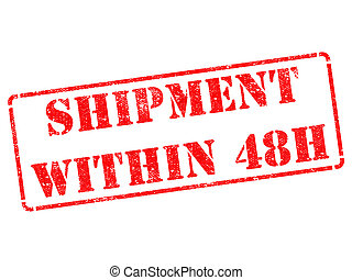 Shipment within 48h on Red Rubber Stamp.
