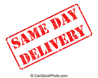 Same Day Delivery on Red Rubber Stamp - Same Day Delivery on...