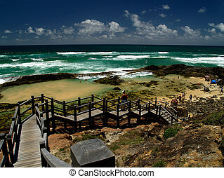 Champagne Pools Fraser Island - Champagne Pools on Fraser...