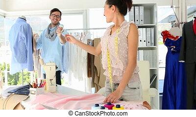 Design team working hard in their studio