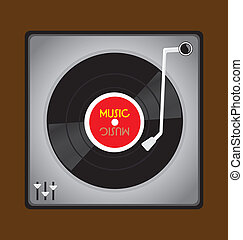 Vinyl Record Player - The music vinyl record player