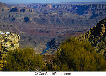 Grand Canyon - a scenic view of the grand canyon south rim