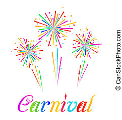 Sketch abstract colorful exploding firework for Carnival...