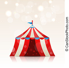 Open circus stripe entertainment tent - Illustration open...