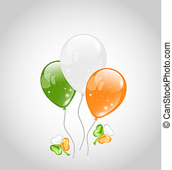 Irish colorful balloons with clovers for St. Patrick's Day