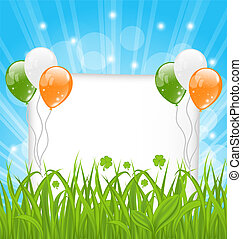 Happy St Patricks day celebration card - Illustration happy...