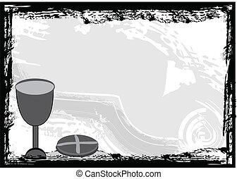 Holy communion invitation backgrou - Holy communion black...