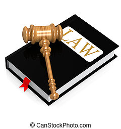 Law book image with hi-res rendered artwork that could be...