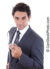 confident businessman - confident young businessman in suit...