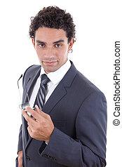 confident businessman - confident young businessman in suit...