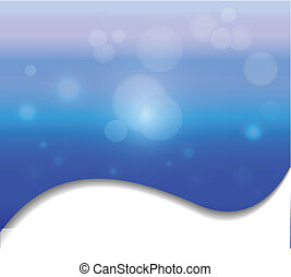 Abstract blue background - Vector of swirly abstract blue...