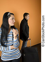 Couple divorce painful - Divorce:Woman suffering , crying...
