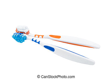 Teeth brush - Two teeth brush for man and woman with...