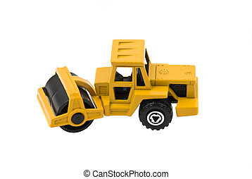 Compactor - Vibratory soil or asphalt compactor yellow toy...