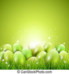Green Easter background - Green modern Easter background...