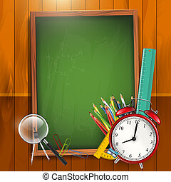 Back to school - vector background - School background with...