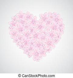 Flower heart-shape
