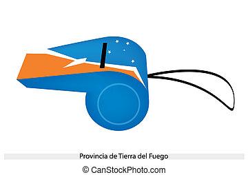 A Whistle of Provincia de Tierra del Fuego - An Illustration...