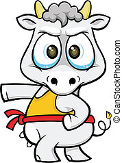cartoon cow 01