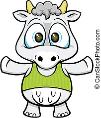cartoon cow 02