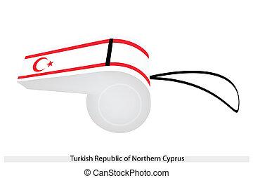 A Whistle of The Turkish Republic of Northern Cyprus - A Red...