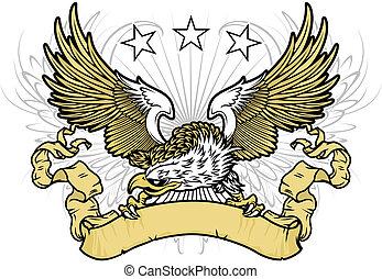vector eagle - vector illustration white head eagle...