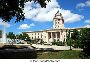 Manitoba Legislative Building in Winnipeg, Manitoba, Canada