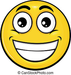 smiley 05 - vector cartoon yellow smiley with funny...